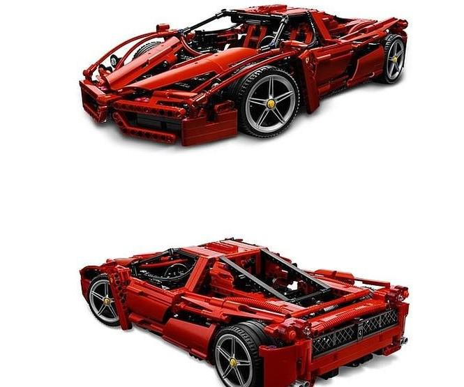 Cool Sports Toys : Building blocks sports car cool buliding toy open