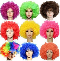 New Party Rainbow Afro Clown Child Adult Costume Football Fa...