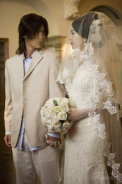 New Hight Quality Two Layer Wrist Length Lace Applique Edge Wedding Veil White Ivory Meidingqianna Brand Alloy Comb