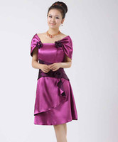 Wholesale Angel in han Chinese wedding dress red late outfit bridesmaids red dress short money LF097