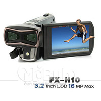 Wholesale Newest D Full HD DV Camera Digital Camcorder SPEED FX H10 inch Dual CMOS Sensor MP Black