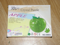 Wholesale RZ181 Novelty Gift DIY Decoration D Apple Toy Crystal Puzzle Jigsaw