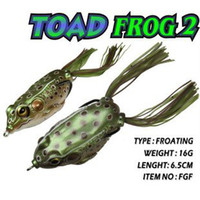 Wholesale g mm frog fishing lure bass fish kill frogs road bait