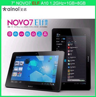 Wholesale fedex Ainol Novo7 ELF Capacitive Andriod A10 GHZ GB DDR3 Resolution Camera Tablet PC