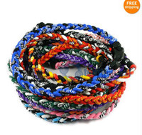 Bohemian titanium necklace - New Baseball Sports Titanium Rope Braided Sport GT Necklace colors