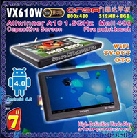 Wholesale CPAM quot Onda VX610W Capacitive MB GB Android Tablet PC Allwinner A10