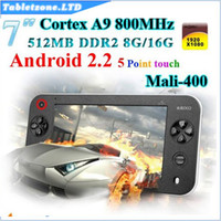 Wholesale S7100 Game Handheld xi Gaming Console Tablet PC capacitive Support Android PSP Games