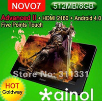 Wholesale 7 inch Novo Advanced II Tablet PC Ainol A10 GMhz Android HDMI2160P Five points