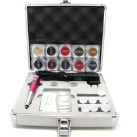 Wholesale Professional Permanent Electric Makeup Kit Tattoo Eyebrow Lip Eyeline Machine Kit