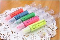 Wholesale Cute Needle Tube Shape Highlighters Pen Creative Stationery
