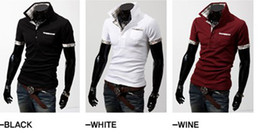 Wholesale 2012 HOT New Men s Casual Slim Stylish Grid spell color Short Sleeve T shirts