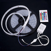 Wholesale Christmas M Flexible Led Strip Light M Leds V Waterproof SMD Warm Pure Cool White Red Green Blue RGB Non Waterproof Hot
