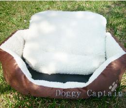 Cachemira-como suave y cálida cama Admite mascotas Nido de lujo caliente nido perro de gran tamaño / pequeña + free # 3075