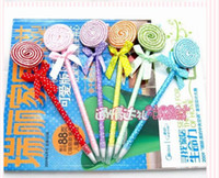 Wholesale 2016 best selling super cute fashion lollipop pen cartoon pen ball point pen student prizes children kid gift