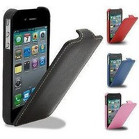 Wholesale Leather Case cover pouch for iPhone S with Retail Package do dropping