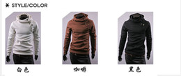 Wholesale 2012 Brand New HOT Men s Inclined zipper pullover Hoodies amp Sweatshirts Men s Hoodies Sweatshirts