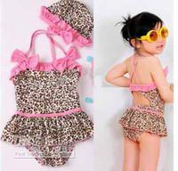 Wholesale girl piece leopard Swimwe zebra print girls swimsuit swim pool itemsbath kids baby swimwear coats