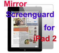 Wholesale Mirror Anti Glare Screen Protectors Screenguard LCD Film Skin for laptop tablet ipad ipad2 Naked