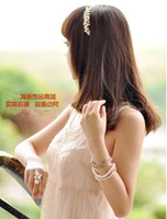Wholesale Hot selling New fashion Womens lady handmade pearl hairpin hair clip Headbands