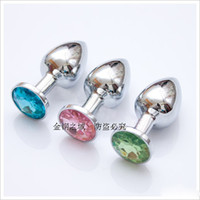Wholesale Large Size cm Unisex Metal Anal plug Butt Stainless steel Jewelry Booty Beads Sex toys Product