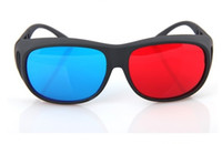 Wholesale New Multi colors Plastic D glasses for D vedio D movie D games D TV in red pairs