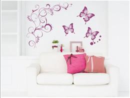 Wholesale Autocollant muraux Autocollant décoratif mur poster set vigne papillon cm