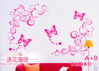 Wholesale butterfly Wall sticker pasterposter house decorative sticker set vine butterfly cm