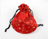 Wholesale 100 Mixed Jewelry Box Luxury Brocade Jewelry Pouches Gifts Bags For MOB Gifts Pouch A1