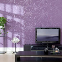 Flocking Waterproof Living Room T paper wall paper is aesthetic TV setting wall decorate wall paper stripe curve flocking big volume