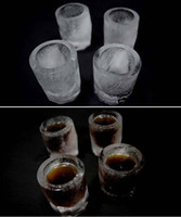Wholesale Novelty Gifts Cube Tray Mold Makes Shot Glasses from Ice Shot