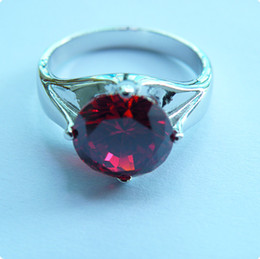 High Quality STUNNING 4.0CT RUBY 14KT WHITE GOLD RING -RW018