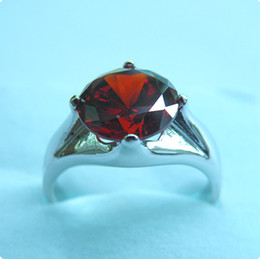 Free Shipping STUNNING 4.0CT RUBY 14KT WHITE GOLD RING -RW018