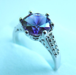 Brand New GORGEOUS 3.0CT TANZANITE 14KT WHITE GOLD RING -TW022