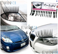 Wholesale 3D Car Eyelash For Most Car Headlight With Double sided Tape Durable Plastic Three Colors pairs