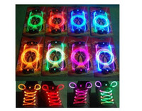 Wholesale 100pcs pairs fashion lighting up LED led Shoelaces shoe lace laces colours battery included