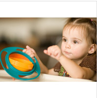 Wholesale New arrive Baby Gyro Bowl Kid s bowl spill resistant bowl avoids spills and messes