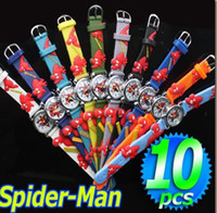 Wholesale Cute Fashion Spider Man Watch D Cartoon watch Kids Watch children Watch