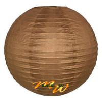 Wholesale Hot sell Chinese Paper Lanterns for wedding Christmas party decorations quot lantern brown