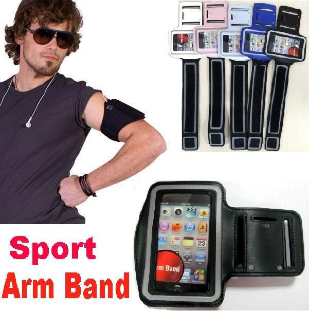 Buy sport Arm band Leather Jacket Belt Clip Case Waterproof running phone Gym Pouch Mobile