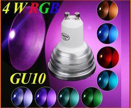 20pcs lotAC 100-240V GU10 RGB LED Bulb lamp 4W 220LM led spotlight with Remote Control led lighting