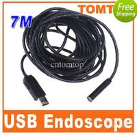 Wholesale 4 leds M led light USB Endoscope ip66 Waterproof Inspection Camera snake tube Borescope H4978 good