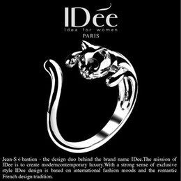 Wholesale Promotion Price New Adjustable Cat Ring Animal Fashion Rings Free Gift