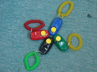 Wholesale Pet Dog Training Clicker Made Of Durable Plastic And Meta With Flexible Wrist Strap