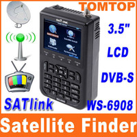 Wholesale Original SATlink WS quot LCD DVB S FTA Professional Digital Satellite Signal Finder Meter H4967