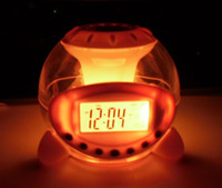 Wholesale Colorful music ball alarm clock LED Clock Colorful color clock Lazy Alarm Clock kg