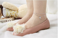Women's Alloy Traditional Charm 1518 Korean female fashion lovely full drilling puppy Anklets ankle bracelet
