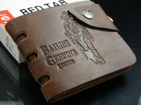 Wholesale hot cowboy Mens High Quality Leather Pocket Wallet Card Clutch Cente Bifold Purse