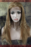 blonde human hair wigs - 100 human hair Lace Front Wig with stretch lace back quot Indian Remy Hair strawberry Blonde