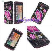 Wholesale Hard crystal Rhinestone diamond butterfly skin case for HTC Rhyme S510B G20