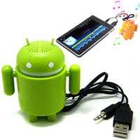 Wholesale Mini Google Android Robot Audio Speaker Amplifier For Laptop Computer